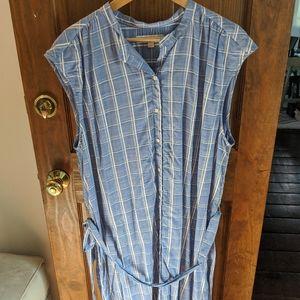 Two Ann Taylor LOFT Cotton Shirt Dresses